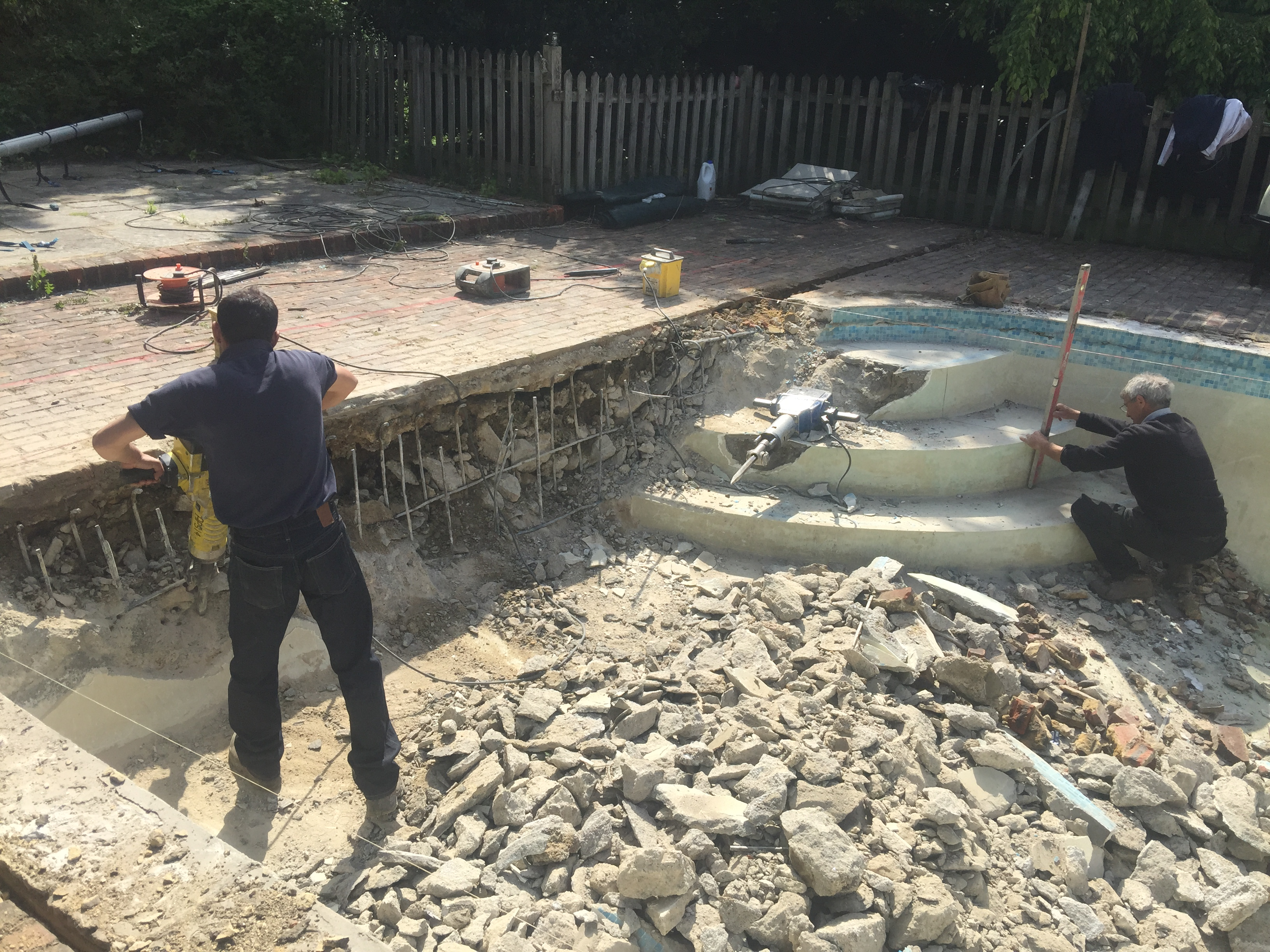 Remodelled Outdoor Concrete Swimming Pool Chobham Surrey