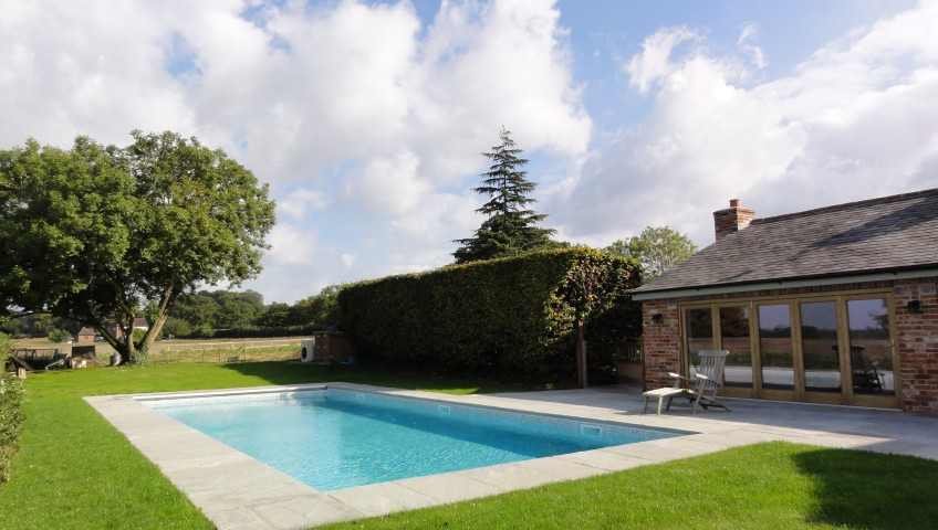 Pool and barn conversion finished
