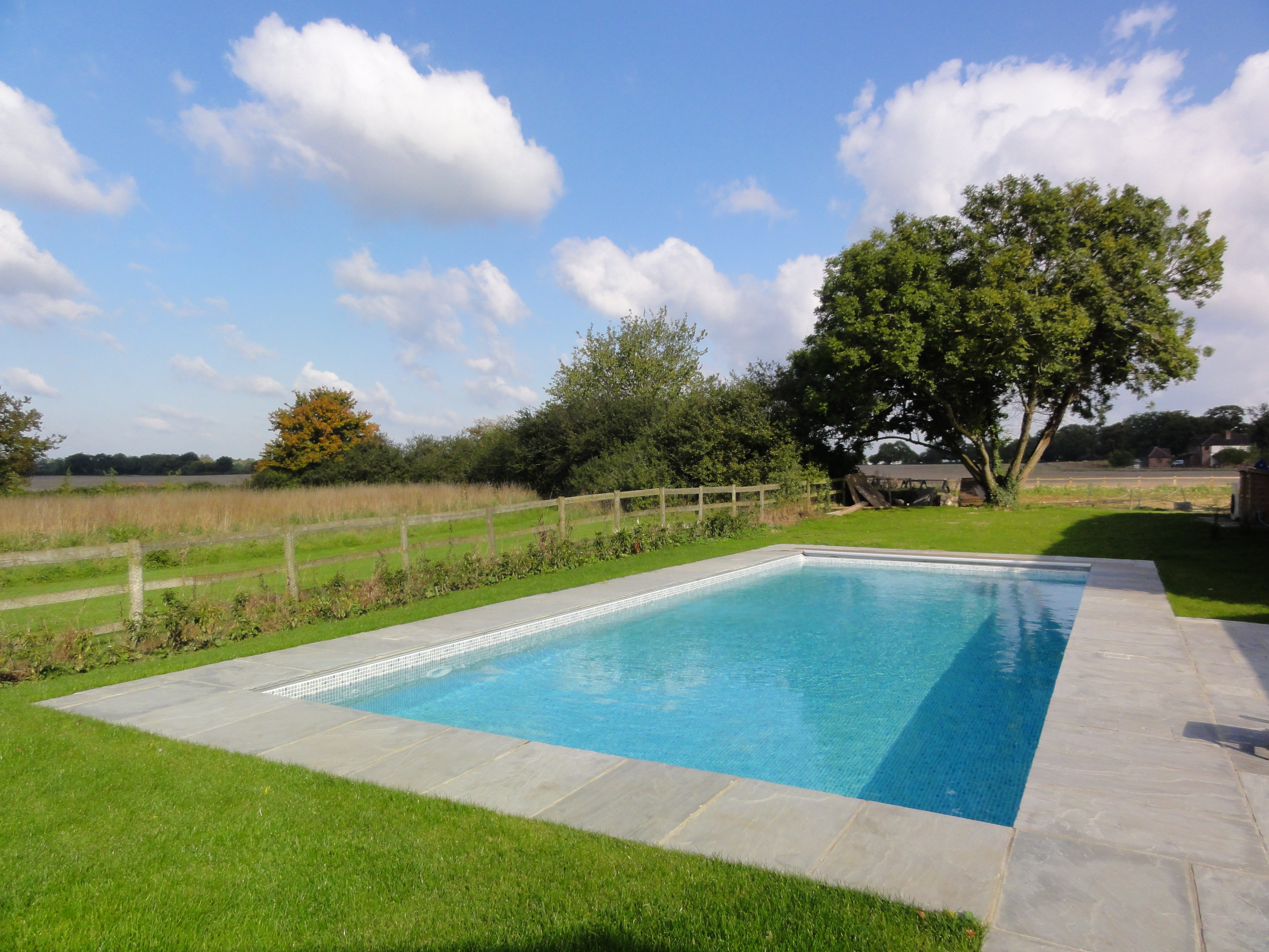 New Liner Pool With Automatic Safety Cover Arborfield Berkshire Ascot Pools Swimming