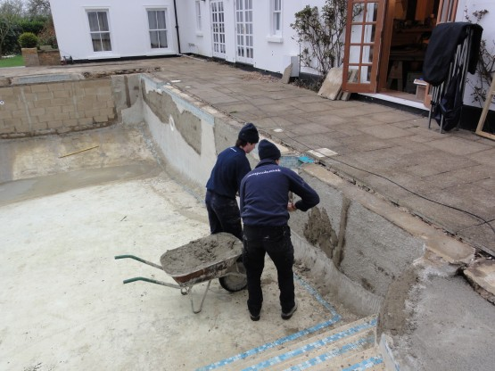 Ascot Cottage making good pool shell