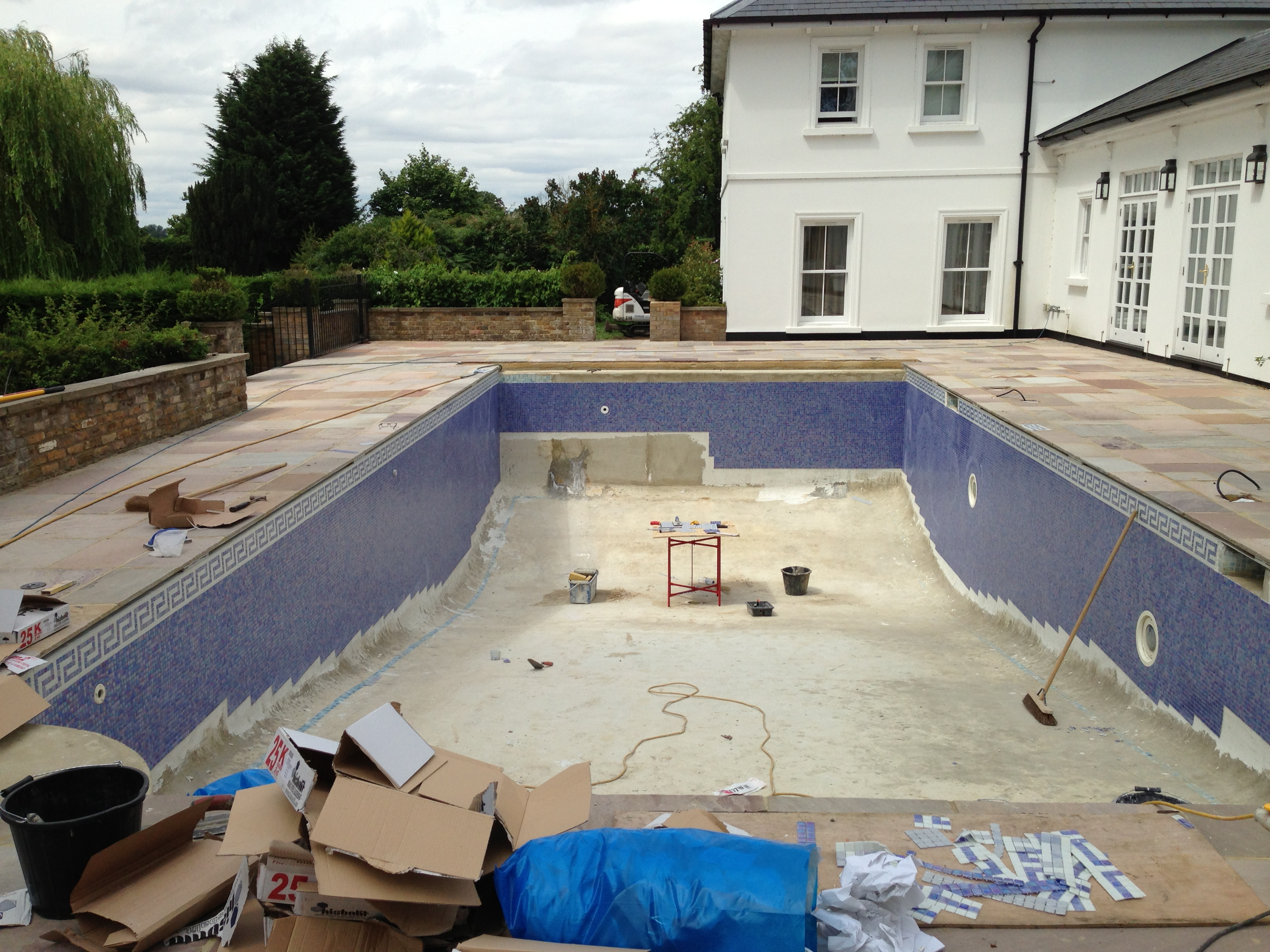 Renovation Of Old Pool And Installation Of Safety Cover Ascot Berkshire Ascot Pools